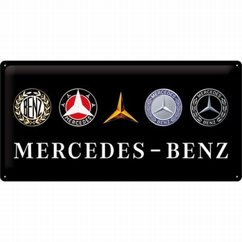 mercedes benz revolution logo's relief reclamebord