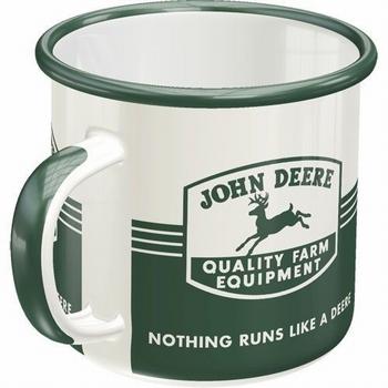 John Deere equipment farm emaille mok