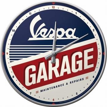 Vespa Garage wandklok