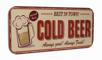 Cold beer best in town XXXL metalen wandbord