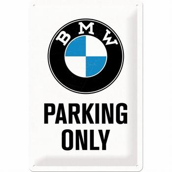 BMW parking only metalen relief reclamebord