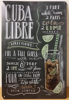 Cuba libre metalen reclamebord