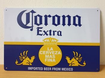 Corona extra metalen reclamebord