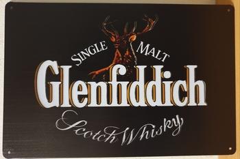 Glenfiddich metalen reclamebord wandbord