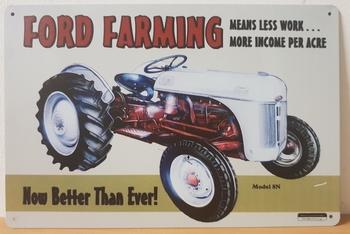 Ford farming metalen reclamebord tractor