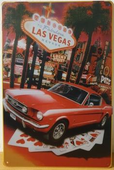 Mustang las vegas metalen reclamebord