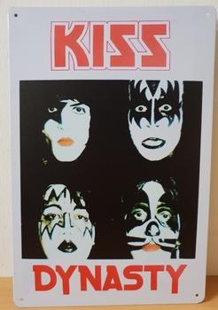Kiss dynasty metalen reclamebord