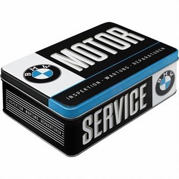 BMW service metalen  voorraadblik koekblik