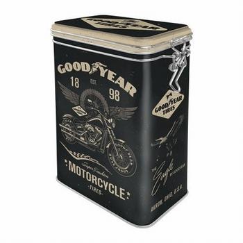 Goodyear autobanden motorcycle tires voorraadblik clipbox