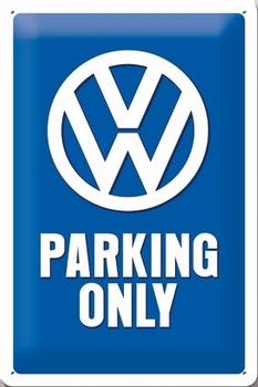 VW Volkswagen parking only metalen reclamebord relief
