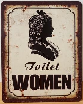 Toilet women dames wc metalen wandbord