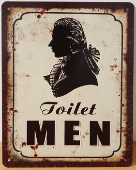 Toilet men heren wc metalen wandbord