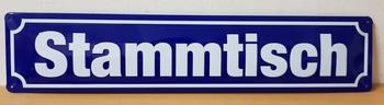 Stammtisch metalen straatnaambord