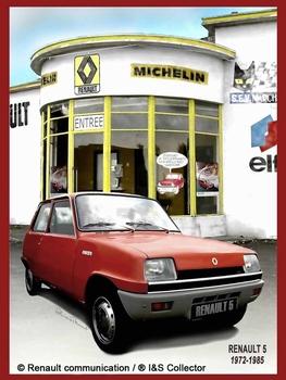 Renault R5 garage metalen wandbord