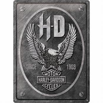 Harley Davidson adelaar eagle grijs metalen relief r
