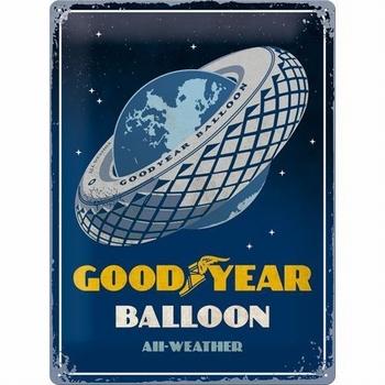 Goodyear balloon autobanden metalen relief reclamebord