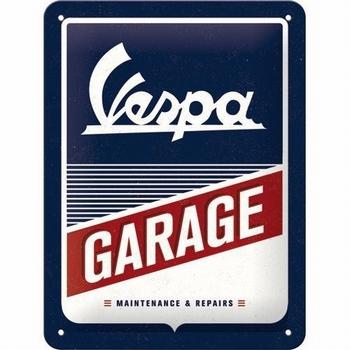 Vespa garage metalen relief reclamebord