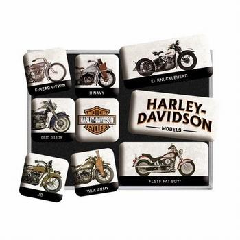 Harley Davidson models set van 9 magneetjes