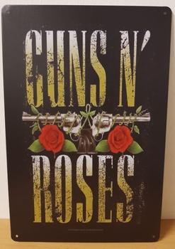 Guns n roses verticaal reclamebord tekst