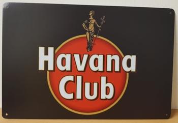 Havana club logo metalen reclamebord