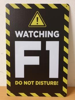 Watching F1 Formule 1 metalen wandbord