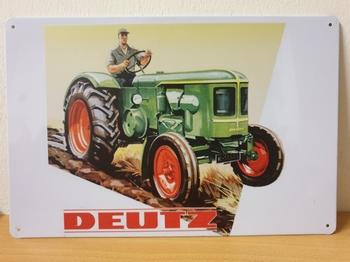 Deutz land boer tractor metalen wandbord