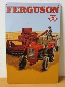 Ferguson rode tractor graan metalen wandbord