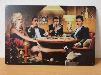 Beroemdheden Poker tafel marilyn monroe elvis james de