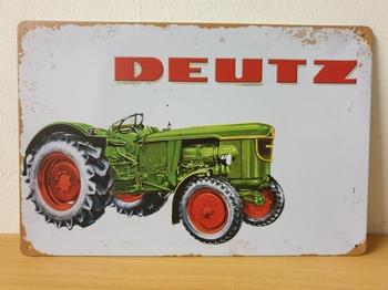 Deutz tractor old look metalen wandbord