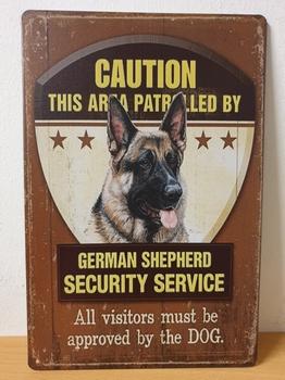 German shepherd duitse herder security service metalen