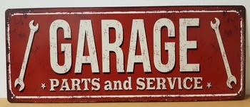 Garage parts en service metalen wandbord 50x20cm