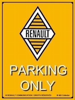 Renault parking only metalen wandbord relief
