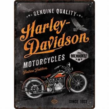 Harley Davidson timeless tradition metalen reclamebord
