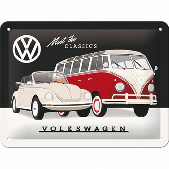 Volkswagen vw meet the classics metalen reclamebord