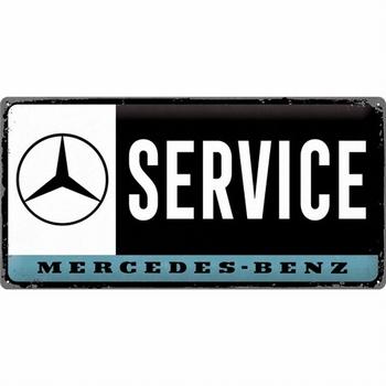 Mercedes benz service metalen reclamebord relief