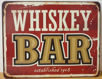 Whiskey bar metalen wandbord