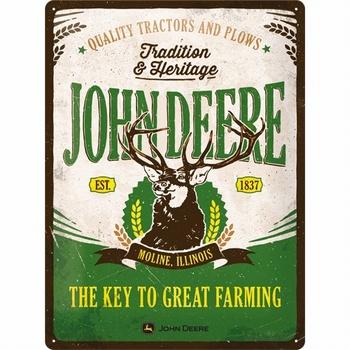 John deere tradition & heritage metalen relief recla