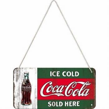Coca cola rood groen hanging sign metaal