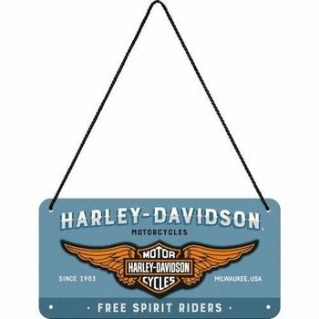 Harley davidson blauw logo hanging sign