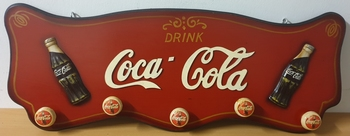 Coca cola houten kapstok pubbord