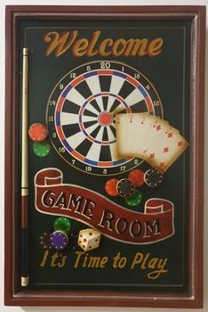 Gameroom Darts poker bier houten pubbord