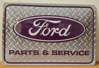 Ford parts en service metalen wandbord RELIEF