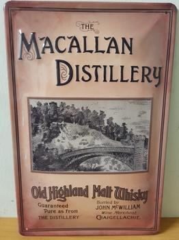 Macallan distillery metalen reclamebord RELIEF