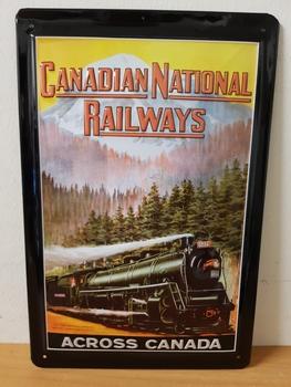 Canadian National railways metalen reclamebord  RELIEF