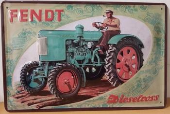 Fendt dieselross groene tracor reclame van metaal  REL