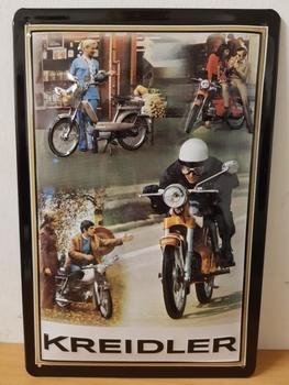Kreidler collage  metalen reclamebord  RELIEF