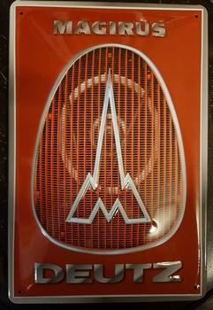 Deutz magirus logo metalen reclamebord  RELIEF
