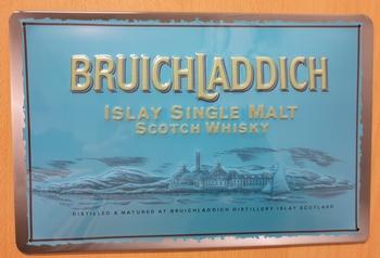 Bruichladdich scotch whisky  metalen reclamebord RELIE