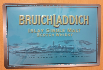 Bruichladdich scotch whisky  metalen reclamebord RELIE