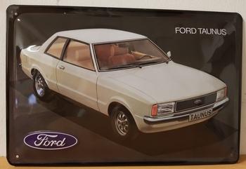 Ford taunus metalen reclamebord RELIEF